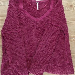 Free people red campfire sweater